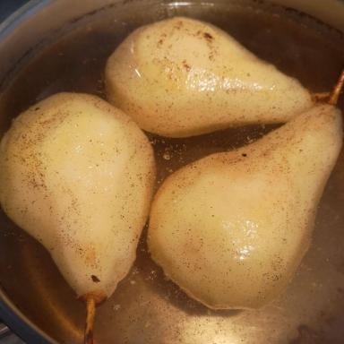 poires pochées